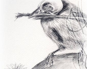 "Trio of Martinefa's Postcards ""Dark Birds"" - 14,8 x 10,5 cm"