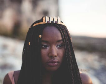 Boho tribal crown headband - Ayo
