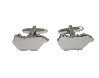 Hungary Map Shape Cufflinks