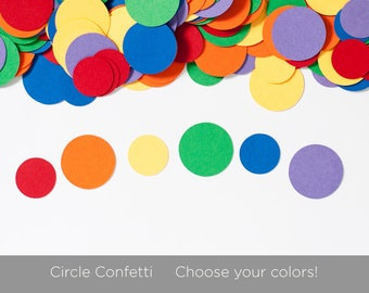 Circle Confetti - Choose your colors - Baby shower Decoration - Birthday Decoration