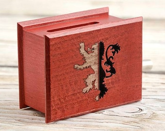 Red Wedding music - The Rains of Castamere cover - Lion of House Lannister - Game of Thrones inspired handmade music box with paper strip