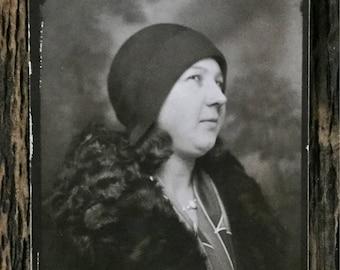 Original Vintage Photobooth Photograph Catherine Thinks