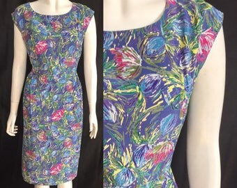 1950s rayon summer dress