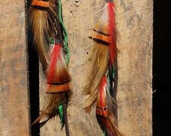 """Earrings feathers """"Chalew"""""""