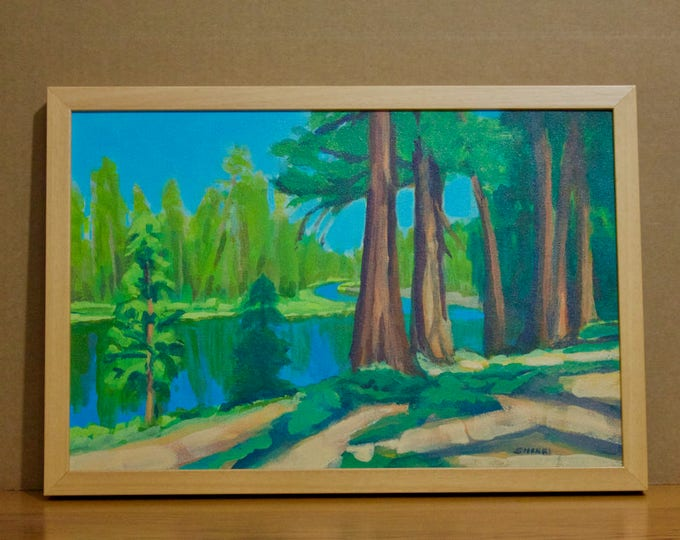 Deschutes River Landscape Painting Morning on the River at Bull Bend CG