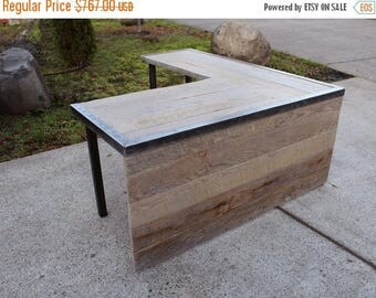 Limited Time Sale 10% OFF Custom L Shaped Industrial desk Without front panel