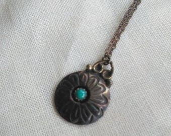 Antique / Vintage Sterling Silver Pendant & Necklace