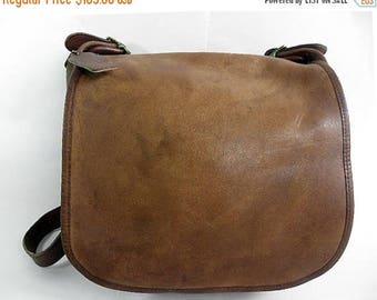 NEWYEAR SALE LARGE 1970's Vintage Coach Legacy Leather Shoulder Bag Bonnie Cashin Nyc
