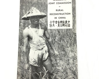 Chinese American Joint Commission on Rural Reconstruction JCRR Book 1950