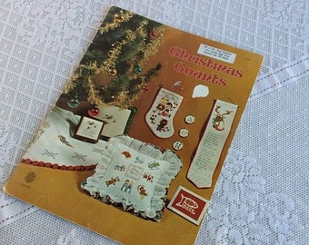 CIJ Cross Stitch Patterns and Tutorials for Christmas / Christmas Counts 1977 Book of Cross Stitch Embroidery Designs