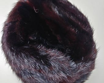 Awesome Vintage Lady's Fur Pillbox Hat