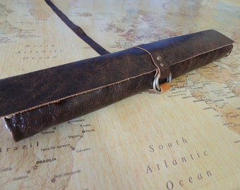 Handmade Leather Knife roll / chef roll / chef bag / tool roll 9