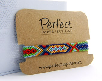 Unisex Friendship Bracelet Handwoven / BFF Macrame Bracelet / Boho Bracelet Wrist Wrap / PerfectImp Best Friend Bracelet / Native American