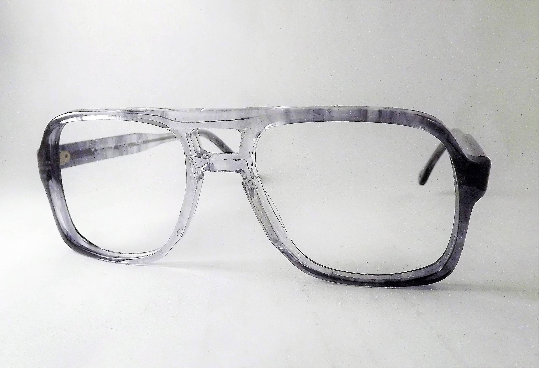 Tortoise Aviators, Big Boxy Mens Eyeglasses, Vintage Gray Glasses ...