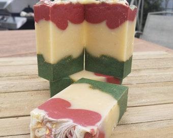 Caprese Soap-Cold Process Castile Soap with Basil and Tomato