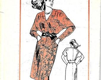 ON SALE 1980's Prominent Designer A912 Pattern, Dolman Dress, Size 10, Uncut