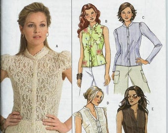 ON SALE Butterick 4801 Misses Tops Pattern, Size 8-14, UNCUT