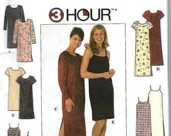 ON SALE Simplicity 7905 Misses/ Miss Petite 3 Hour Dress Or Slipdress Sewing Pattern, 4-6-8 ,  UNCUT
