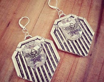 Earrings silver geometric ♠Angel♠