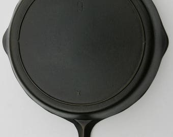 Vintage Lodge No 9 Larger Size 11 1/8 Width Fine Cast Iron 3 Notch Skillet Fry Pan Professionally Cleaned Organically Seasoned Ready To Use