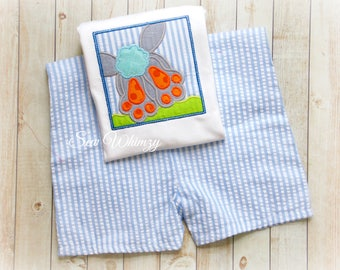 Easter shirt or bodysuit- Easter bunny shirt or bodysuit- Boy bunny shirt- Boy Easter shirt- Bunny shirt- Boy shorts- Easter set- Boy Bunny