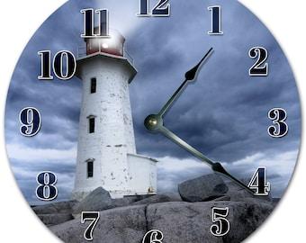 "10.5"" LIGHTHOUSE TOWER Clock - Living Room Clock - Large 10.5"" Wall Clock - Home Décor Clock - 5147"