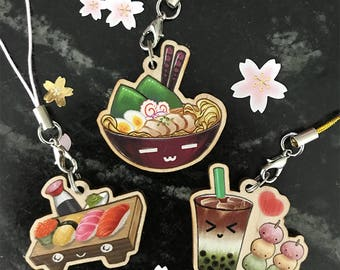 Special Price Wooden Food Charms Set