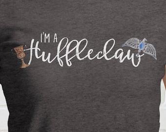 I'm A HUFFLECLAW Ladies T Shirt | Hufflepuff and Ravenclaw | Mixed Hogwarts Houses