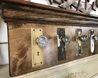 Architectural Salvage Coat Rack, Rustic Coat Rack, Antique Glass Door Knob Coat  Rack, Part 70
