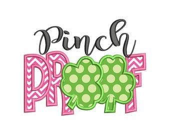 Pinch Proof St Patricks Applique Machine Embroidery Design - Instant Download
