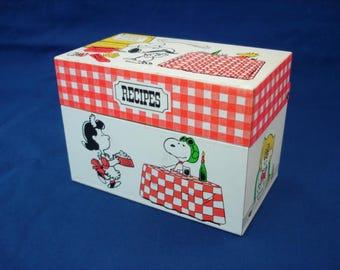 Peanuts Metal Recipe Box