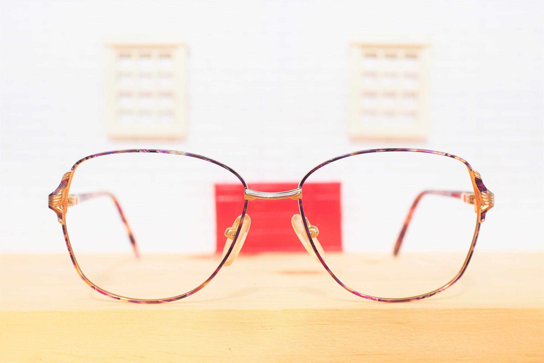 Vintage Eyeglass Wire Rim 1990\'s Multi Color Frames Color Splash ...