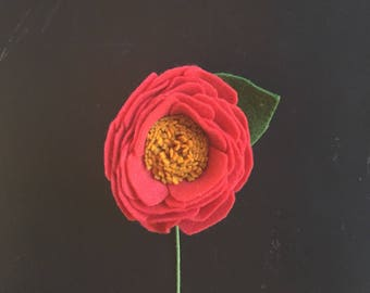 Felt Camellia - Build your own Bouquet - Felt Flowers A La Carte