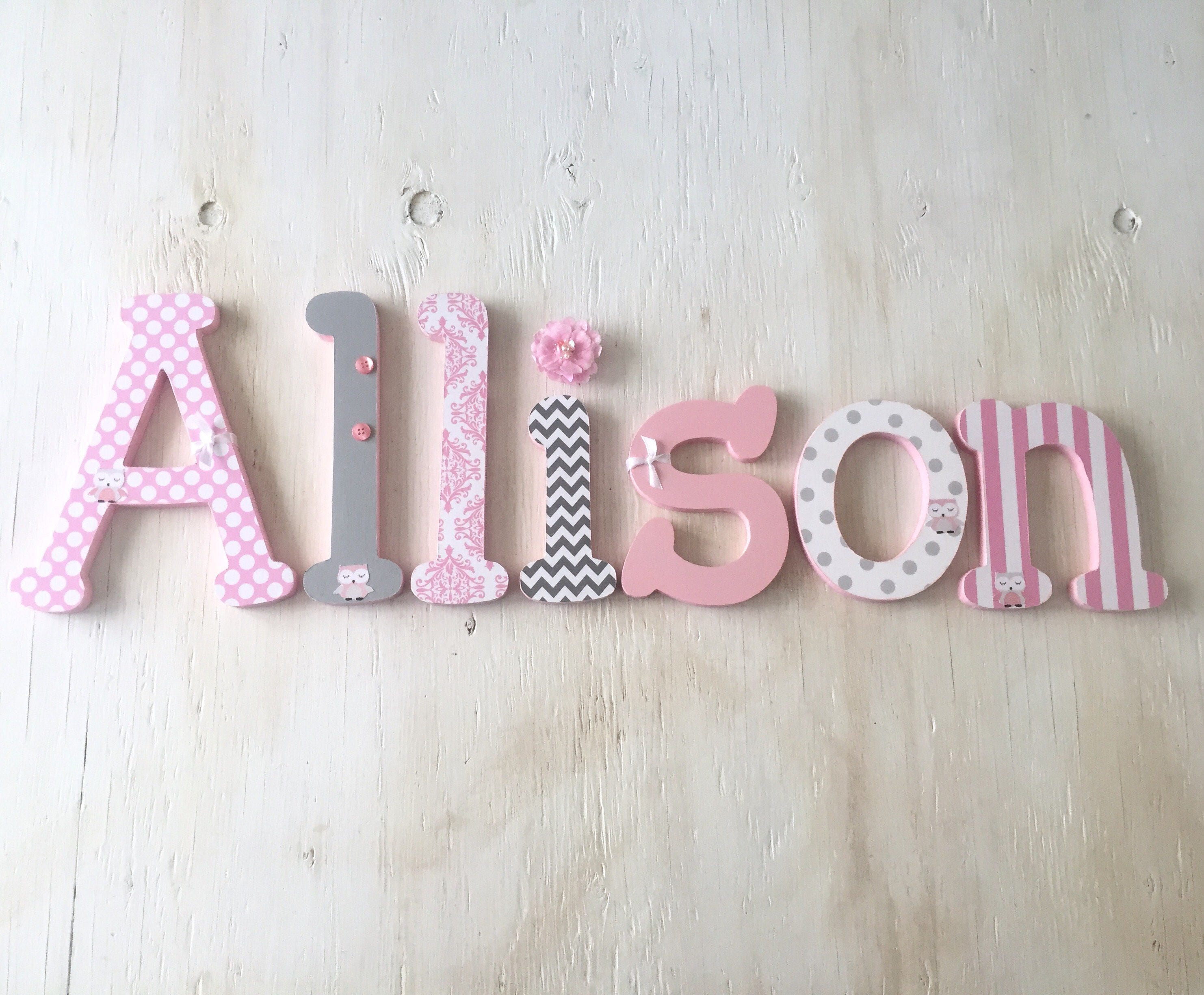 nursery girl turquoise decor wall decorative flowers for letters baby paper