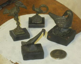 Rare Bronze Miniatures , F.v.M German Bronze Miniatures , Art Deco Miniatures