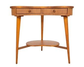 Danish Modern Mid Century Teak Biomorphic Side Table