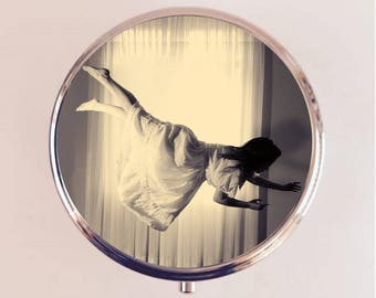Floating Woman Pill Box Case Pillbox Holder Trinket Stash Box Flying Surreal Surrealism Photography
