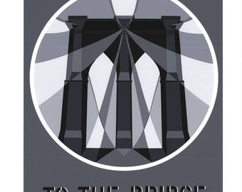 Robert Indiana-To the Bridge (Brooklyn Bridge)-1997 Serigraph