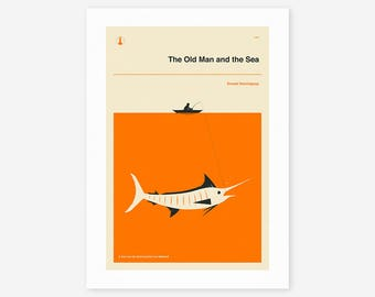 The Old Man And The Sea (Giclée Fine Art Print/Photo Print/Poster Print)