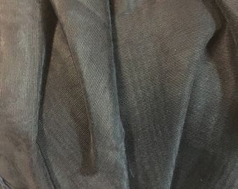 """black fabric 86"""" long and 49"""" wide silky shiney FREE SHIPPING"""