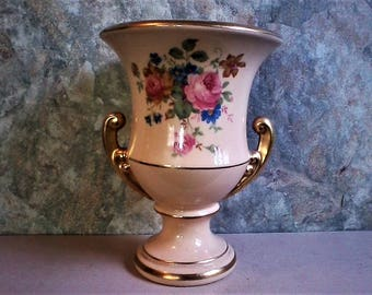 Shabby Chic Ceramic Urn Vase