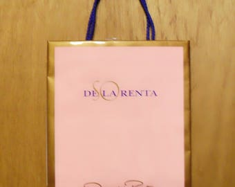 Vintage 1990s So de la Renta by Oscar de la Renta Perfume Promotional Paper Shopping Bag Designer Fragrance Collectible