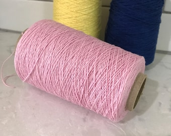 Cottolin 22/2 Light Pink Yarn For Weaving Organic Yarn Cotton/Linen 60/40 % Yarn 100g Cones