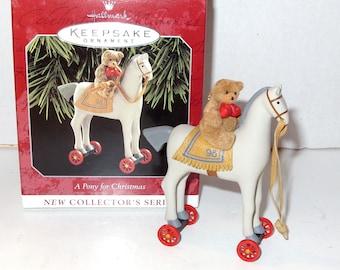 Hallmark Keepsake A Pony for Christmas Vintage Christmas Ornament NOS