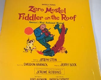 Music Book  - Vocal Selections from Fiddler on the Roof - Zero Mostel 1993