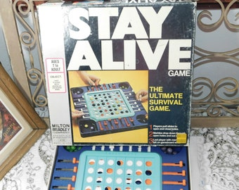 Stay Alive 1971 Marble Game, Vintage board Game, Vintage Game, Vintage Toys, Toys, Milton Bradley Game , Made In the USA,