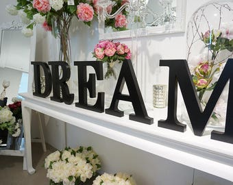 Dream sign, Wooden Letters, Bedroom decor, Home decor, Wall decor