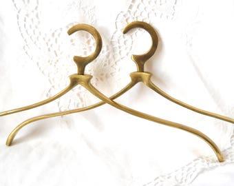 1 wedding dress hanger wedding hanger coat hanger french vintage brass clothes hanger bridal hanger