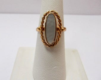 On Sale SARAH COVENTRY Mother of Pearl Adjustable Ring Item K # 817