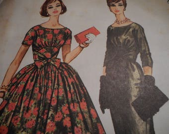 Vintage 1950's McCall's 5142 Dress Sewing Pattern, Size 14, Bust 34